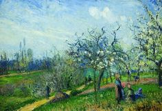 Camille Pissarro「Orchard in Bloom」(1871)