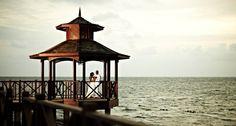 Love this spot for a romantic wedding photo! #Jamaica #Destinationwedding