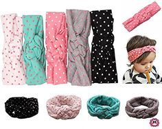 Qandsweet Baby Girl Newest Turban Headband Head Wrap Knotted Hair Band *** You can get additional details at the image link.