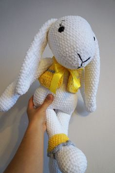 Crochet bunny. Made by Woolen Bee