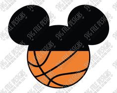 Mickey Mouse Basketball SVG Cut File Set for Boys' Disney Shirts Mickey Mousr, Mickey Shirt, Mickey Mouse Shirts, Mickey Head, Boy Disney Shirts, Background Clipart, Disney Printables, Basketball Season, Silhouette Studio Designer Edition