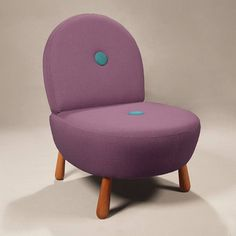 Dodue Berjer Chair Purple Turq