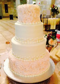 Rosette wedding cake by Pronias deli and bakery!