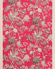 Songbird Fabric In Cerise