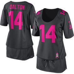 Nike Andy Dalton Cincinnati Bengals Women's Breast Cancer Awareness Fashion Jersey - Anthracite