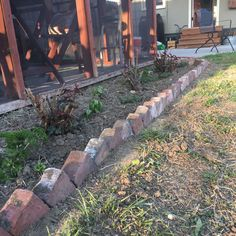When our new patio was poured, we set aside the random assortment of bricks used… - Flower Garden İdeas İn Front Of House