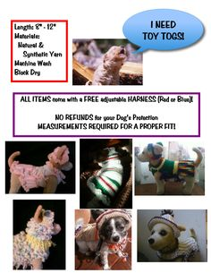 HANDMADE small dog CLOTHING by Toy Togs! 0