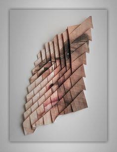 Pliages de portraits pliage portrait by Aldo Tolino