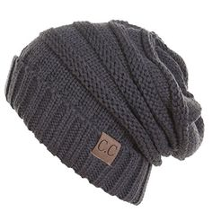 acccee5fa16 Thick Slouchy Knit Unisex Beanie Cap Hat