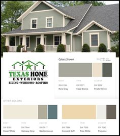 Check out these home siding color options and ideas from Texas Home Exteriors and Sherwin-Williams