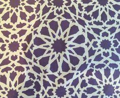 Rare Unused PAT ALBECK MOSAIC Fabric 60s Cotton Material Graphic Geometric Retro  | eBay