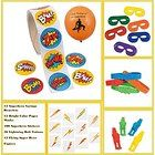 Superhero Party Favors Bundle Kit Pack Enough for 12 Boy's or Girl's Kid's Stickers, Bracelets, Masks, Tattoos, Toy Assortment