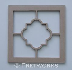 Unfinished Single Quatrefoil Panel No. 8103