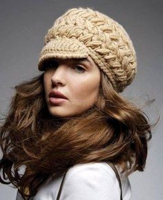 10 free and really cute crochet hat chart patterns :-) Bonnet Crochet, Crochet Beret, Crochet Woman, Knit Or Crochet, Cute Crochet, Crochet Crafts, Crochet Scarves, Crochet Clothes, Knitted Hats