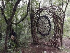 A Year in a French Forest: Sculpture No 24.Forest Sculptor Spencer Byles.