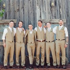 This would be nice.  I would like the color gray for the suits.  I really like the idea of the groom having a bowtie and the groomsmen having neckties.