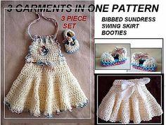 Ravelry: 553 Bibbed Crochet Sundress, Skirt, Booties pattern by Emi Harrington