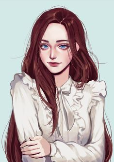 Digital Art Girl, Digital Portrait, Portrait Art, Portraits, Cartoon Kunst, Cartoon Art, Aesthetic Art, Aesthetic Anime, Character Inspiration
