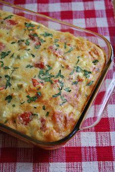 Crustless Zucchini Tomato Quiche http://glamorousrecipes.com/