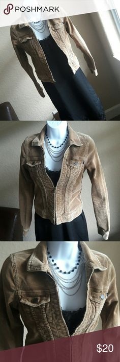 Abercrombie & Fitch Tan Corduroy Texture  jacket Used in good conditions Abercrombie & Fitch Corduroy light brown jacket. Great neutral color, pair with many on Trend patterns! 97% cotton, 3% spandex.   Others accesories not included but all of them are listed for sale... bundle and save more!! Abercrombie & Fitch Jackets & Coats