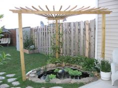 Ideas to cover pond from osprey on pinterest pergolas for Pond shade ideas