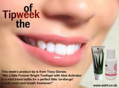 Tip of the week with forever living products +201127616556 https://m.facebook.com/ForeverBeautyAlovera/