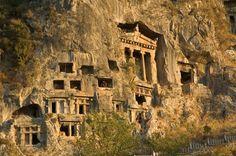 Lycian Rock-Cut Tombs of Dalyan, Kaunos, Turkey