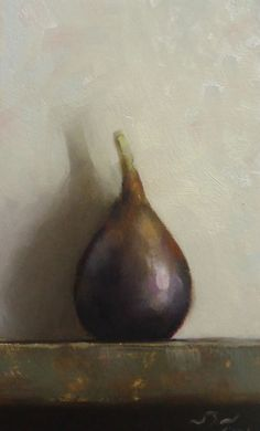 Original Oil Painting - Fig - Contemporary Still Life Art - Nelson