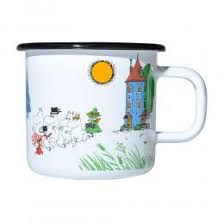 This Moomin Valley mug is from the colours collection. In a wonderful retro enamel style, this mug would make the perfect gift for any moomin lover. Moomin Shop, Moomin Mugs, Kitchen Items, Kitchen Gadgets, Peace Plant, Moomin Valley, Discount Designer, Sims, Branding Design