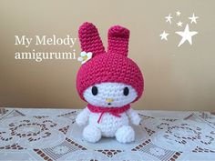my melody Amigurumi (tutorial)/How to crochet my melody - YouTube