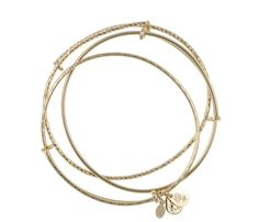 Alex and Ani bracelets. Shop: http://www.styleite.com/retail/gold-jewelry-under-100-shopping-guide/#