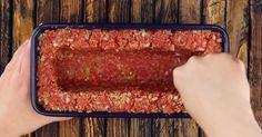 pastel de carne juega en una liga completamente diferente, y esto solo llena - Kochen & Backen - Meatloaf Recipes, Meat Recipes, Chicken Recipes, Dinner Recipes, Cooking Recipes, Healthy Recipes, Tasty Videos, Food Videos, Meat Loaf