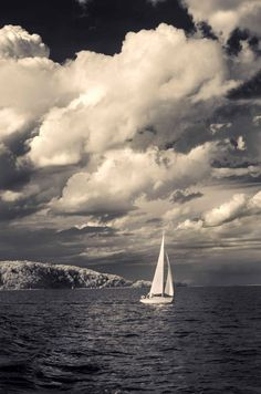 "Fine Art Photography - Lake Michigan Sailing Boat - 8"" x 12"" metallic photograph SIZE: 8"" x 12"" PAPER: Polar Pearl Metallic $35.00"