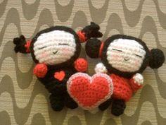 Amigurumi  (編み ぐるみ) é a arte japonesa de confeccionar animais , brinquedos comidas ou objetos em crochê. A palavra é derivada de uma ...