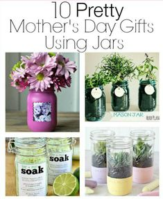 Having a hard time thinking of what to get your mom for Mother's Day? Check out these Awesome DIY Mother's Day gifts that you can make for your mom! Diy Father's Day Gifts Easy, Creative Mother's Day Gifts, Diy Mother's Day Crafts, Diy Mothers Day Gifts, Mother's Day Diy, Mother Gifts, Gifts For Kids, Mason Jar Crafts, Mason Jars