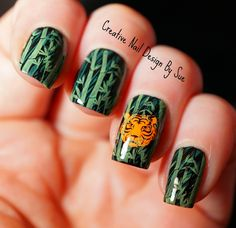 Creative Nail Design by Sue: Digit-al Dozen Eye Of The Tiger