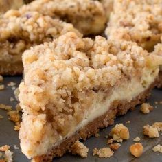 Cream Cheese Crumb Bars - Get all of the wonderful flavors in cheesecake in bar form with these easy Cream Cheese Crumb Bars! Cream Cheese Crumb Bars - Get all of the wonderful flavors in cheesecake in bar form with these easy Cream Cheese Crumb Bars! Smores Dessert, Dessert Bars, Coconut Dessert, Cookie Bars, Bar Cookies, Cookie Dough, Cookies Et Biscuits, The Best, Sweet Tooth