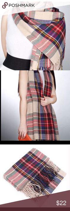 Plaid tartan scarf Shaw 🆕 Brand New Beautiful plaid scarf/Shaw wrap 🆕 would accent any wardrobe beautifully or would make an excellent gift 🎁. Buy with confidence I am a Posh Ambassador, top rated seller, mentor and fast shipper.  Thank you Accessories Scarves & Wraps