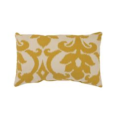 A bold, southwest-inspired pattern in gold and cream covers this Azzure throw pillow from Pillow Perfect. This rectangular pillow is sure to complete the look of any stylish living area.