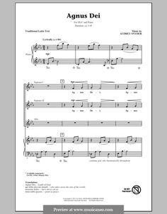 Agnus Dei: Choral SSA by Audrey Snyder
