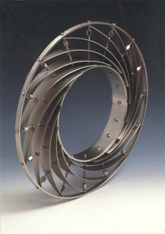 Bracelet | Zack Peabody. 'Turbine'.  Stainless steel and titanium.  ca. 1997.