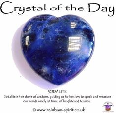 Crystal Of The Day - Sodalite Crystals Minerals, Rocks And Minerals, Blue Crystals, Crystals And Gemstones, Stones And Crystals, Gem Stones, Meditation Crystals, Crystal Healing Stones, Crystal Meanings