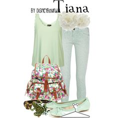 Tiana, created by #lalakay on #polyvore. #fashion