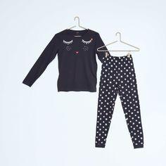 Pyjama long en pur coton Fille - Kiabi - 8,00€