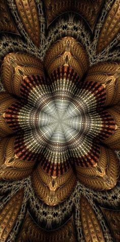 Barbara A Lane, Digital Artist #metal #fractal #mandala Available on FineArtAmerica.com