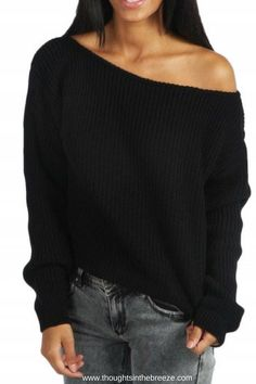 $26.99 Fashion Off Shoulder Ribbed Knit Pullover Sweater. #shopstyle, #sweater, #fashionposts #brand #stylish #looks #fashionstatement #fashionweek #fashionnow #fashionforeveryone,#affiliate