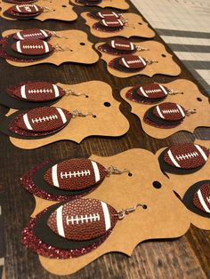 Made To Order Custom Color Faux Leather Football Earrings School Spirit Personalized Mom Cheer Sport Customizable Excited to share this item from my shop: Made To Order Custom Faux Leather Football Earrings School Spirit Personalized Diy Leather Earrings, Diy Earrings, Custom Earrings, Gold Earrings, Gold Bracelets, Leather Jewelry Making, Metal Jewellery, Chain Earrings, Teardrop Earrings