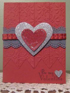 Stampin' Up Handmade Greeting Card Red Valentine