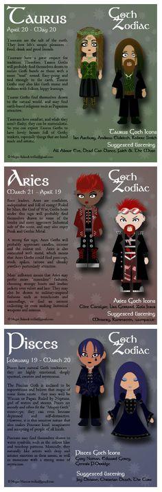 The Goth Zodiac: Wanna Dress For The Dark Side Of Your Sun Sign? #gothzodiac #zodiacsign #dressyourzodiac