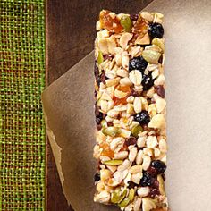 EatingWell Energy Bars from Delish.com #protein #fruit #grain #dairy #myplate